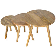 Load image into Gallery viewer, Scandinavian Style Nesting Table Set of 3