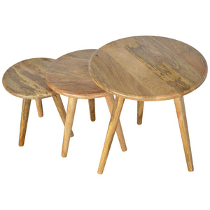 Scandinavian Style Nesting Table Set of 3