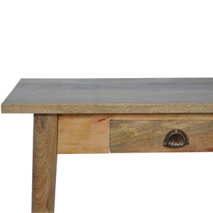 Shell Handle Writing Desk - 2 Drawers
