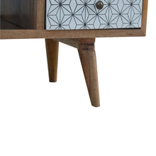 Load image into Gallery viewer, 2 Drawer Geometric Screen Printed Media Unit
