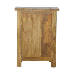 Country Styled 3 Drawer Bedside