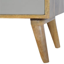 Load image into Gallery viewer, Grey Painted Nordic Style Media Unit