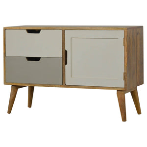 Grey Painted Nordic Style Media Unit