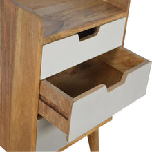 Load image into Gallery viewer, Nordic Grey Bedside Table - 3 Drawers