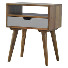 Load image into Gallery viewer, Grey Nordic Style 1 Drawer Bedside