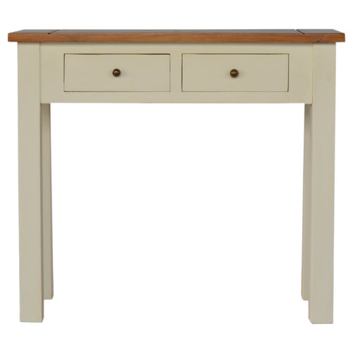 2 Toned Narrow Console Table with 2 Drawers