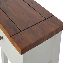 Load image into Gallery viewer, 2 Toned Narrow Console Table with 2 Drawers