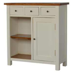 2 Toned Kitchen Unit with 3 Drawer, 2 Open Shelves