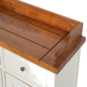 Country Two Tone Kitchen Cabinet - 2 Drawers, 2 Cabinets