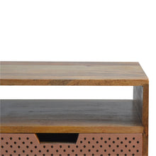 Load image into Gallery viewer, Perforated Copper Front Bedside Table