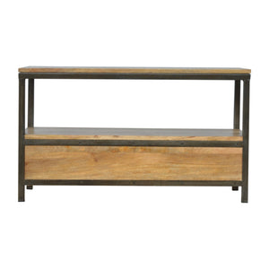 2 Drawer Media Unit with Iron Base