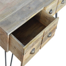 Load image into Gallery viewer, 4 Drawer Coffee Table with Iron Base