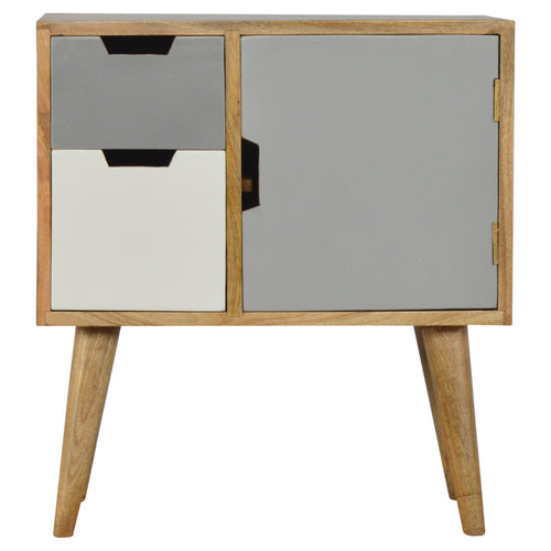 Nordic Grey Cabinet - 2 Drawers