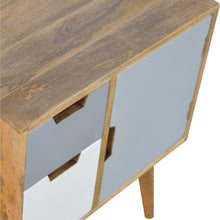 Load image into Gallery viewer, Solid Wood Nordic Style Grey Hand Painted Cabinet with 2 Drawers