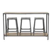 Load image into Gallery viewer, Hallway Console Table with 3 Nesting Stools