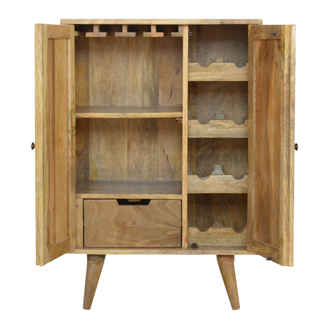 Solid Wood Wine Utility Storage Cabinet