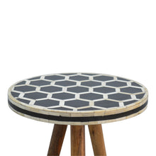 Load image into Gallery viewer, Bone Inlay Tripod Stool