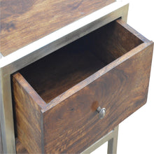Load image into Gallery viewer, Iron Frame 2 Drawer Bedside Table