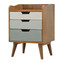 Load image into Gallery viewer, Bedside with Green Hand Painted Cut Out Drawers