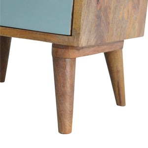 Green Nordic Bedside Table - 3 Drawers