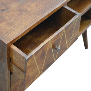Brass Inlay Media Unit