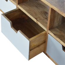 Load image into Gallery viewer, Media Unit with 3 Hand Painted Cut Out Drawers