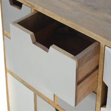 Load image into Gallery viewer, 9 Grey Cut Out Drawers Hand Painted Chest