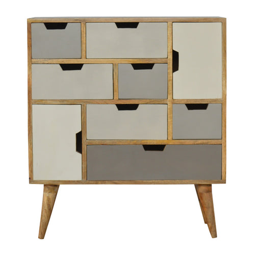 Nordic Grey Chest - 9 Drawers