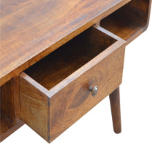 Load image into Gallery viewer, Curved Chestnut Coffee Table - 1 Drawer