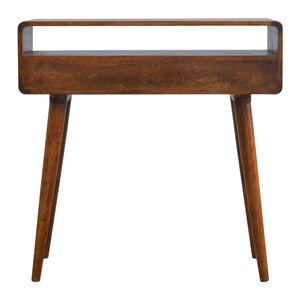 Open Slot Curved Console Table