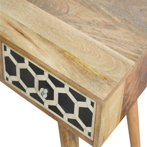Bone Inlay 1 Drawer 1 Shelf Writing Desk