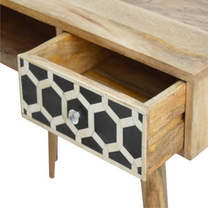 Bone Inlay Writing Desk - 1 Drawer, 1 Shelf