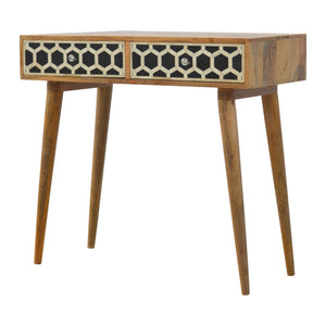 Bone Inlay Console - 2 Drawers