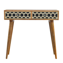 Load image into Gallery viewer, Console Table with Bone Inlay Drawer Fronts