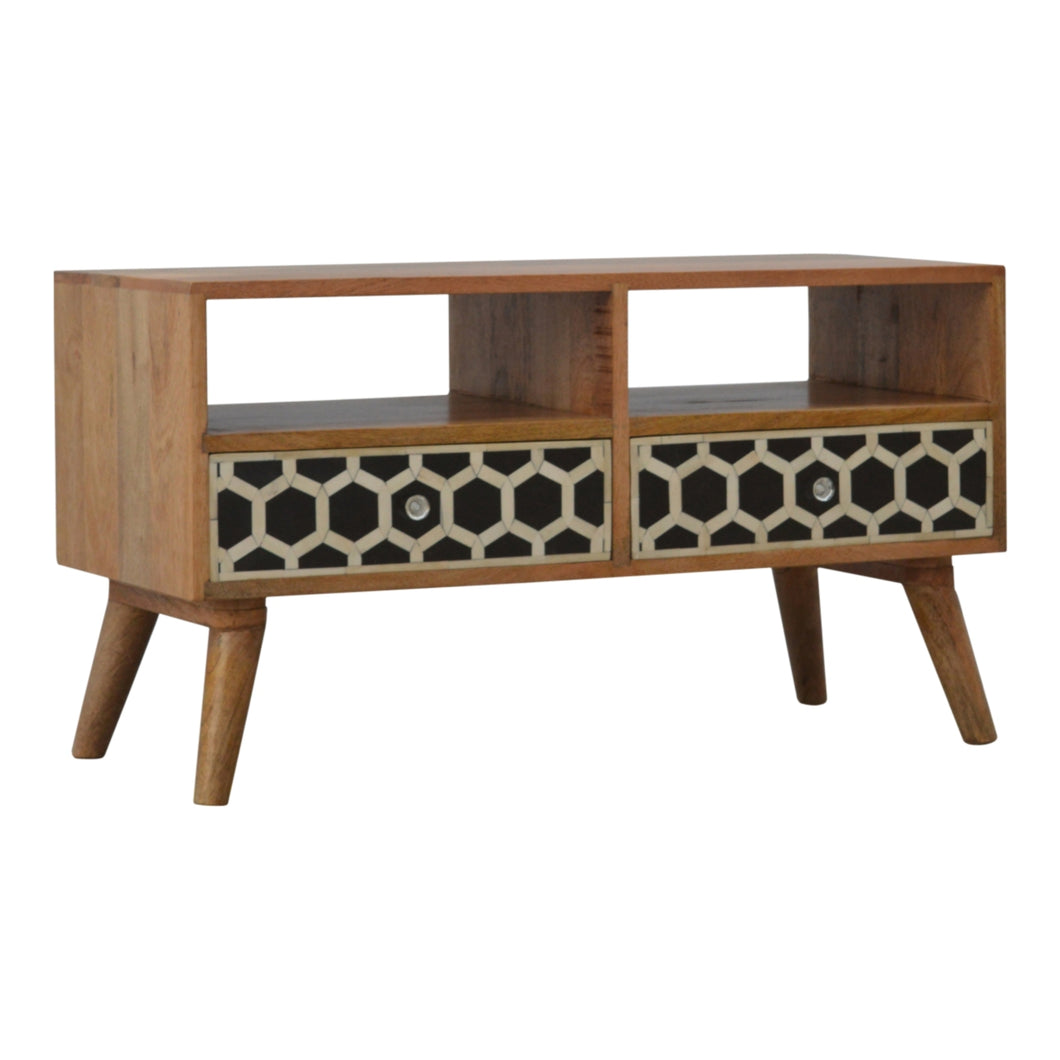 Bone Inlay Media Unit - 2 Drawers