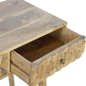2 Drawer Writing Desk with Pineapple Carved Drawer Fronts