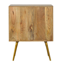 Load image into Gallery viewer, Sleek Brass Inlay Bedside Table - 1 Drawer