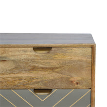 Load image into Gallery viewer, 3 Drawer Nordic Style Sleek Cement Bedside with Brass Inlay