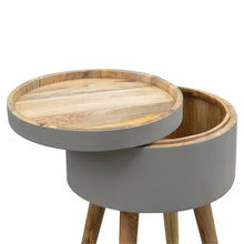 Load image into Gallery viewer, Nordic Style Grey Painted End Table with Open Lid Compartment