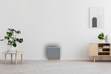 Load image into Gallery viewer, Cement Cube Stool with Gold Base