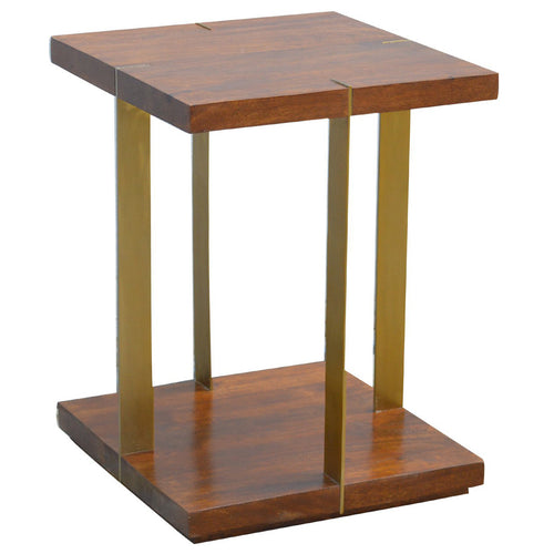 Gold Iron Open Side Table