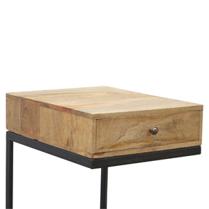Industrial 1 Drawer Geometric Style Bedside
