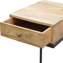 Load image into Gallery viewer, Industrial 1 Drawer Geometric Style Bedside