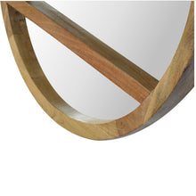 Load image into Gallery viewer, Wooden Round Mirror with 1 Shelf