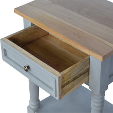 Load image into Gallery viewer, Grey Painted Bedside Table - 1 Drawer