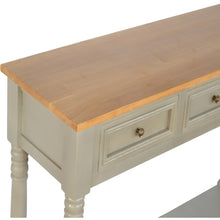 Load image into Gallery viewer, 3 Drawer Grey Painted Console Table with Turned Legs