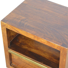 Load image into Gallery viewer, Gold Chestnut Bedside Table - 1 Drawer
