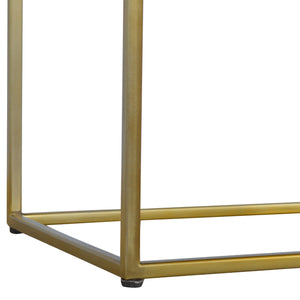Chestnut Butler Tray Table with Gold Base
