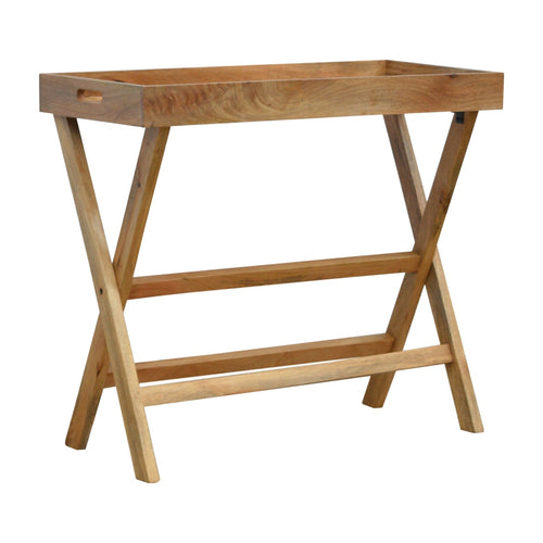 Tray Style Table with Folding Legs