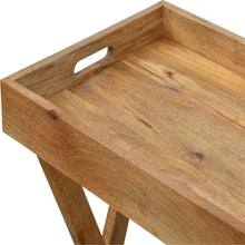 Load image into Gallery viewer, Wooden Buttler Tray with Foldabale Legs